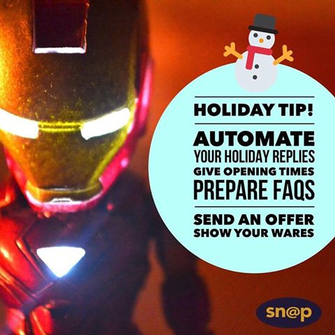 Automate online holiday messages