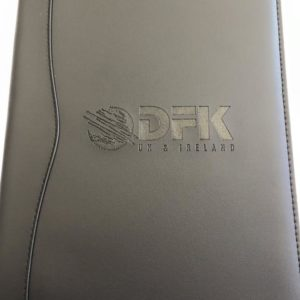 Hard cover diary with embossed branding