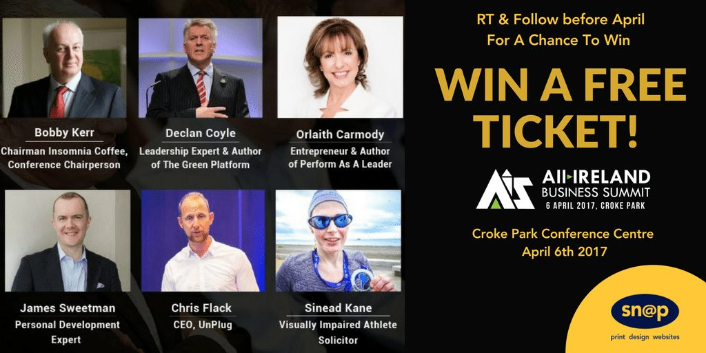 Win Tickets to the ALL IRELAND SUMMIT April 6th 2017