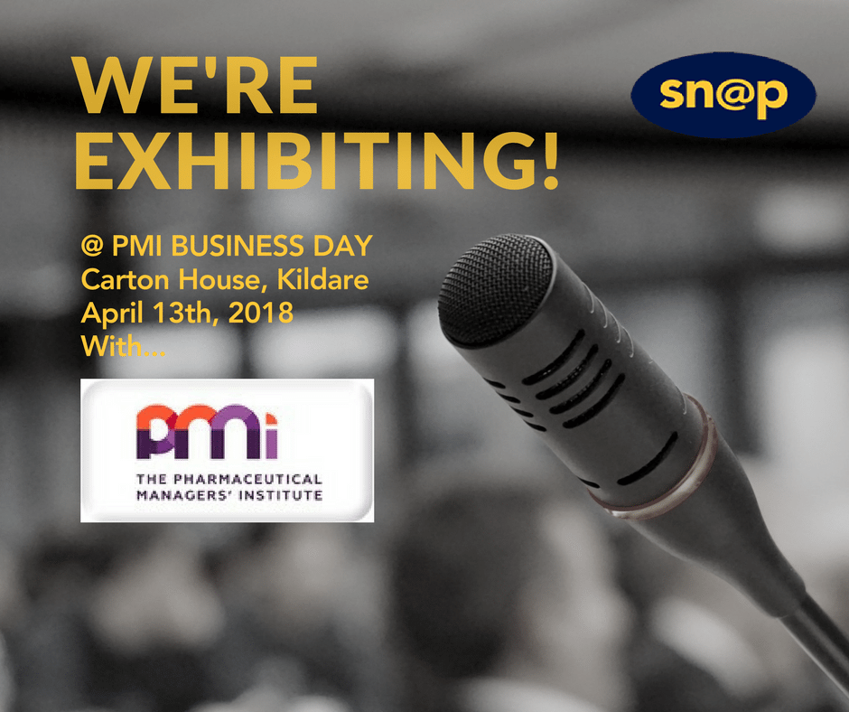 Snap is exhibiting at The Pharmaceutical Managers' Institute of Ireland Annual BusinessDay