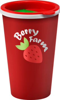Branded cup