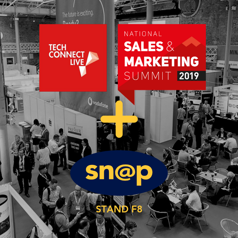 Snap exhibits at Tech Connect live and the Sales and Marketing summit - RDS dublin May 30th