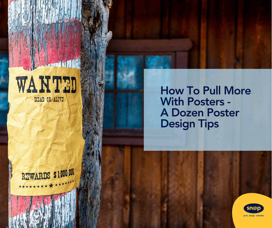 How To Pull More With Posters - A Dozen Poster Design Tips
