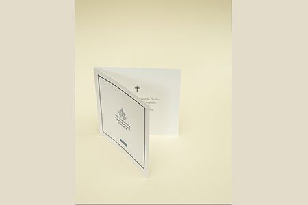 4pg, 150mm Square Thank You Card with White Paper