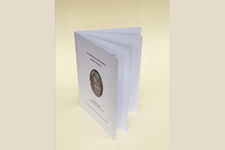 8pg, A5 Booklet with White Paper