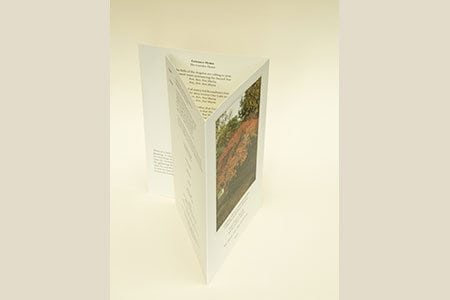 6pg, A5 Booklet with White Paper